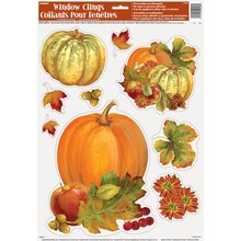 Pumpkin Harvest Fall Window Cling Sheet