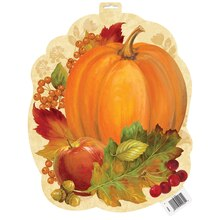 Paper Cutout Pumpkin Harvest Fall Decoration, 16.5""