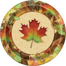 "9"" Woodland Fall Party Plates, 8ct"