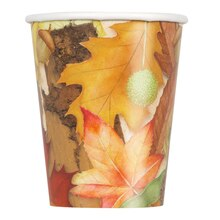 9oz Woodland Fall Paper Cups, 8ct