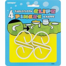 Plastic Tablecloth Clips, 4ct