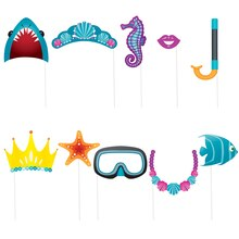 Under The Sea Party Photo Booth Props, 10pc