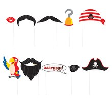Pirate Photo Booth Props, 10pc