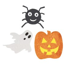 glitter paper cut out halloween decorations assorted 6ct - Paper Halloween Decorations