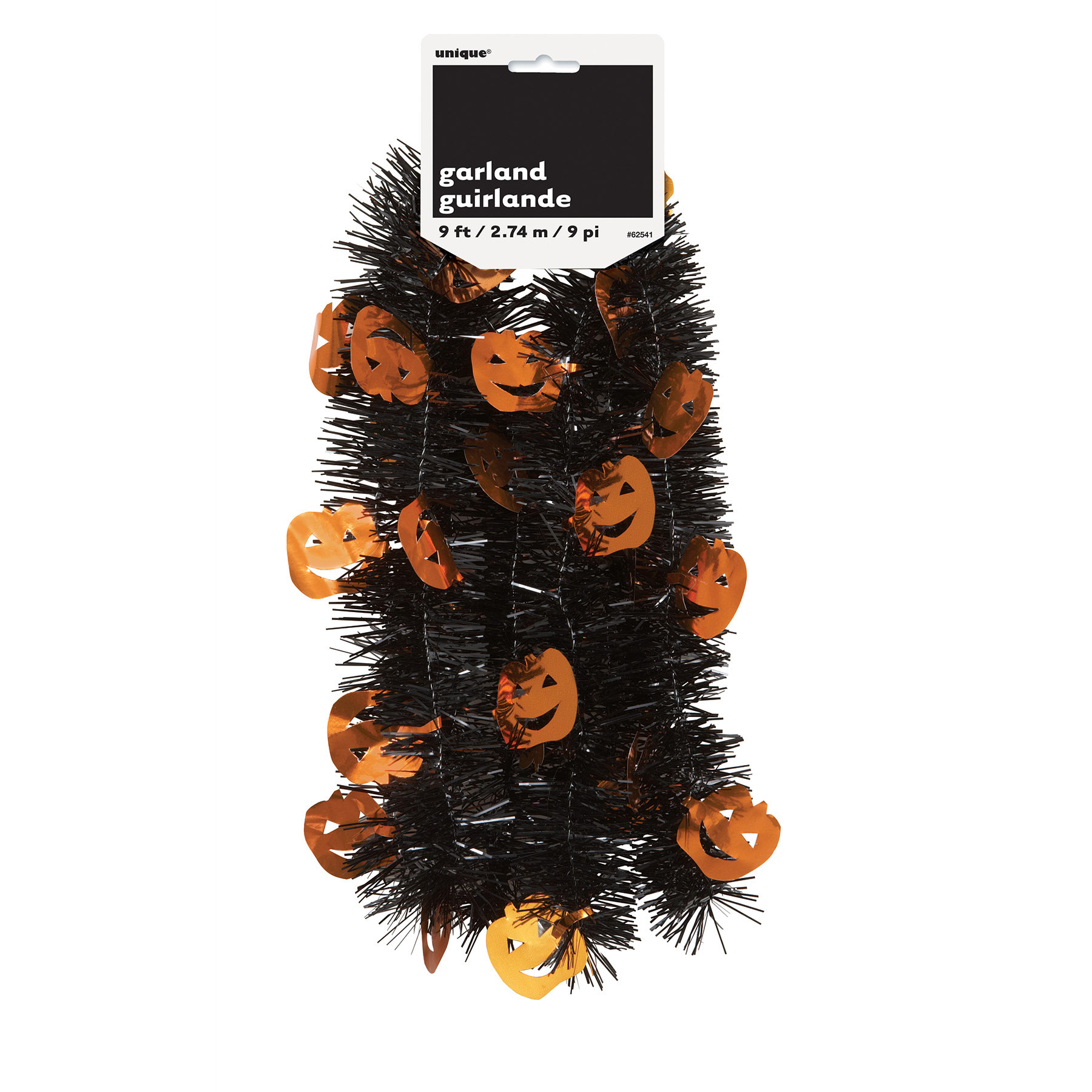 Pumpkin tinsel halloween garland party decorations