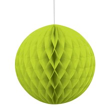 Lime Green Tissue Paper Honeycomb Ball, 8""