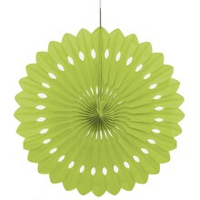 Lime Green Tissue Paper Fan Decoration, 16""