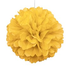 Yellow Tissue Paper Pom Pom, 16""