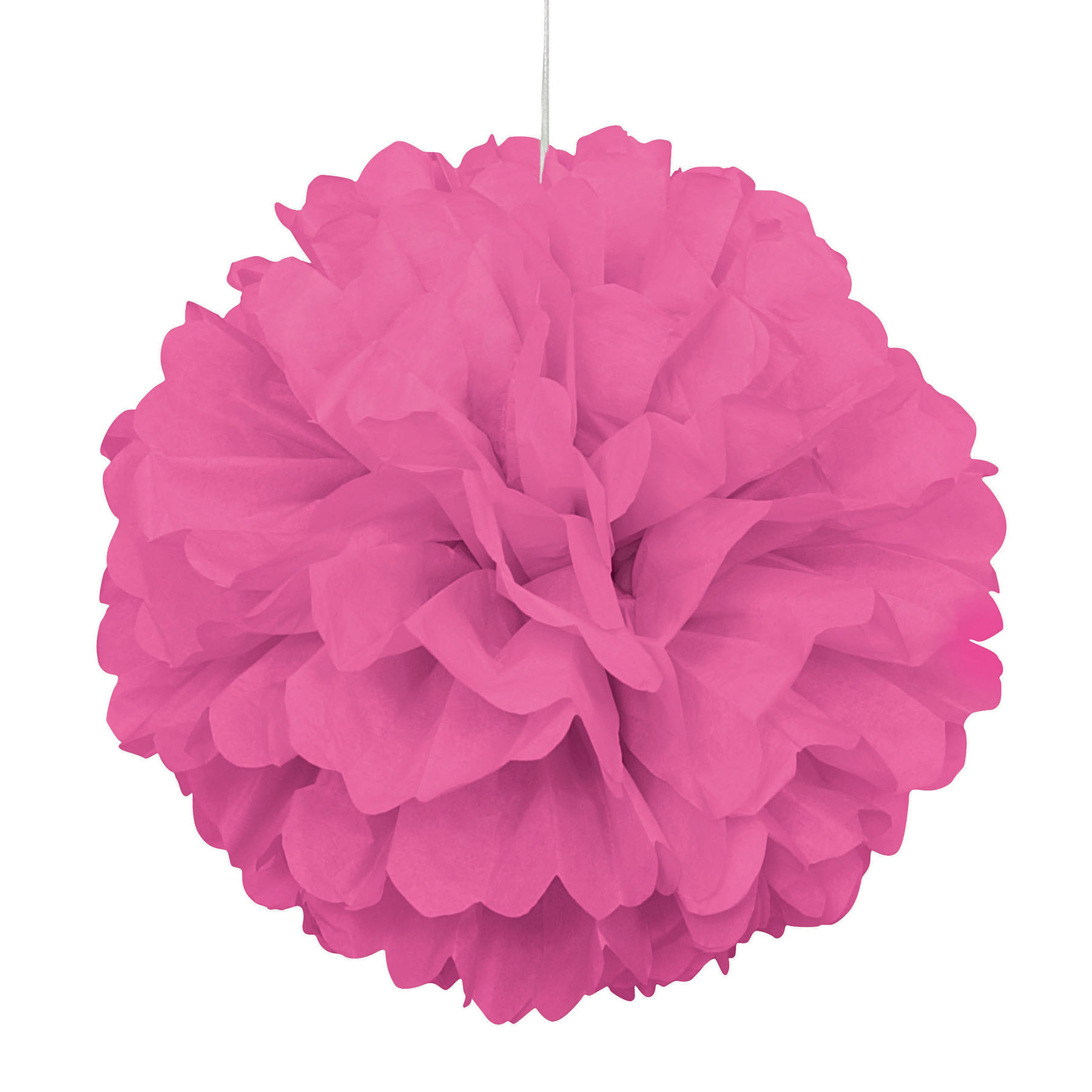 Hot Pink Tissue Paper Puff Decoration Hot Pink Party Decorations