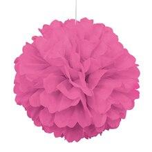 """Hot Pink Tissue Paper Pom Pom, 16"""""""