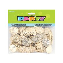 Plastic Gold Treasure Coins, 144ct