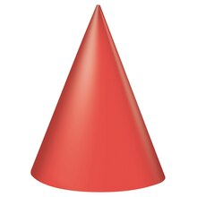 Red Party Hats, 8ct