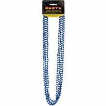 Metallic Blue Party Bead Necklaces, 4ct