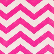 Neon Pink Chevron Luncheon Napkins, 16ct