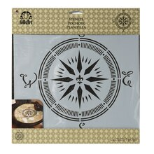 FolkArt Large Painting Stencil, Compass