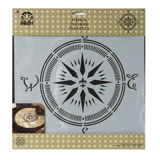 Find The Folkart 174 Large Painting Stencil Compass At Michaels
