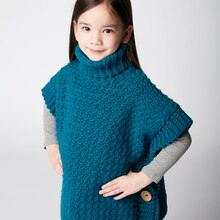 Little Pebbles Crochet Poncho, medium