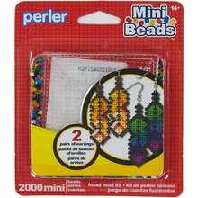 Perler Mini Beads Starter Fused Bead Kit, Earrings