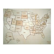 Wooden USA Map By Creatology