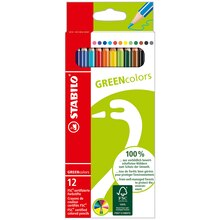 Stabilo GREENcolors Pencil Set, 12 Ct.