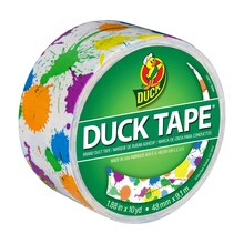 Printed Duck Tape Brand Duct Tape, Paint Splatter