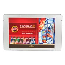Koh-I-Noor Polycolor Tin 36 Color Set