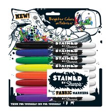 Stained by Sharpie Brush Tip Fabric Marker Set