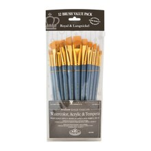Royal & Langnickel Zip N' Close Gold Taklon Round Brush Set