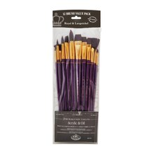 Royal & Langnickel Zip N' Close Burgundy Taklon Round Brush Set