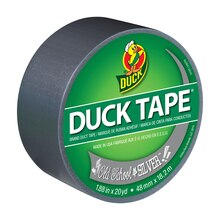 Color Duck Tape Brand Duct Tape, Old School Silver