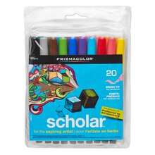 Prismacolor Scholar Brush Marker Set, 20 Count