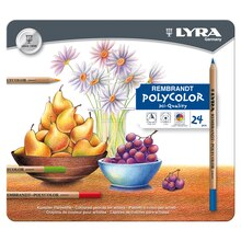 Lyra Rembrandt Polycolor Colored Pencil Set, 24 Count