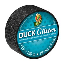 Ducklings Duck Glitter Mini Crafting Tapes, Black