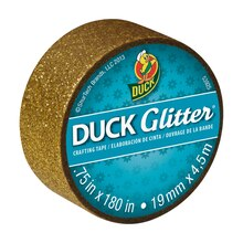 Ducklings Duck Glitter Mini Crafting Tapes, Gold