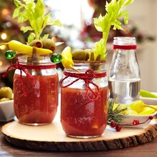 Cozy Lodge Mason Jar Drinking Glasses, medium