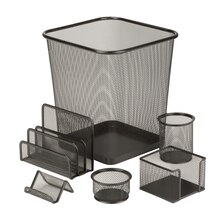 Honey-Can-Do 6 Piece Steel Mesh Desk