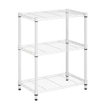 Honey-Can-Do 3-Tier Urban Adjustable Shelving Unit, White