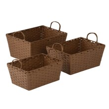 Honey-Can-Do 3-Piece Rope Basket Set