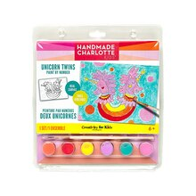 Handmade Charlotte Kids Paint By Number Kit, Unicorn Twins Package