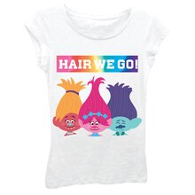 Trolls White Youth T-Shirt, Hair We Go!
