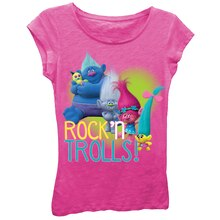 Trolls Hot Pink Youth T-Shirt, Rock 'n Trolls!