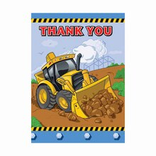Construction Party Thank You Notes, 12ct