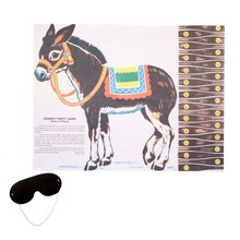 Pin The Tail On The Donkey Party Game, 26pc