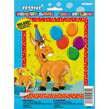Large Pin The Tail On The Donkey Party Game, 10pc