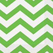 Lime Green Chevron Luncheon Napkins, 16ct