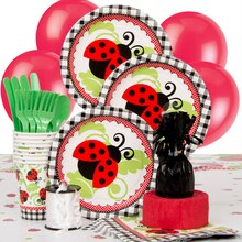 Ladybug Party Supplies Kit for 8