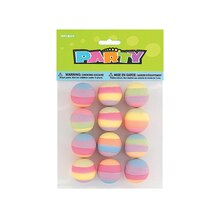 Pastel Striped Bouncy Ball Party Favors, 12ct, medium
