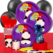 Panda Birthday Party Supplies Kit for 8