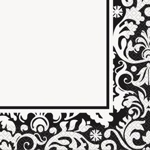 Black Damask Luncheon Napkins, 16ct