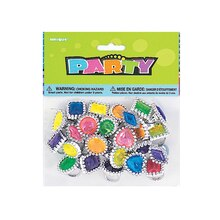 Plastic Gem Rings Party Favors, 24ct